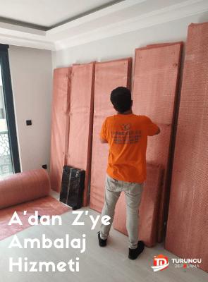 turuncu eşya depolama ambalaj hizmeti